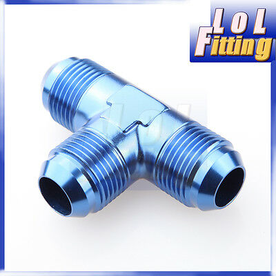 AN 12 AN -12 12 AN Male Flare Union Tee T-piece Fitting Adapter Blue