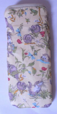 BN OTTERS & WATER VOLES   cotton glasses case