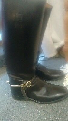 hawkins riding boots with spurs size 7 1/2