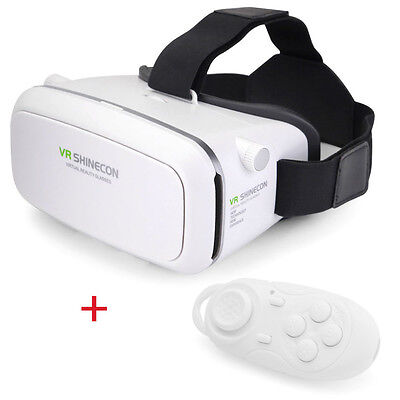 VR 3D Brille Virtual Reality für IPhone Android mit Bluetooth Gamepad Universal