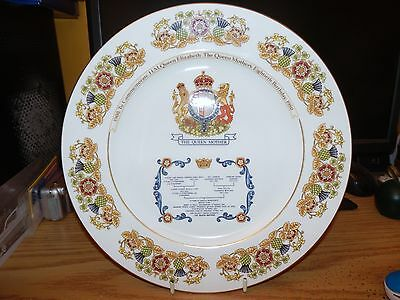 Aynsley china plate Queen Elizabeth the Queen Mother 80th Birthday