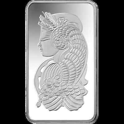 1oz PAMP Suisse Silver Bar 999.0 Fine Silver 'Lady Fortuna' design