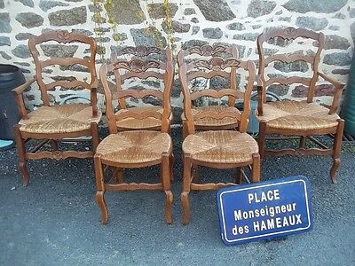 french provincial vintage 4 dining  chairs and 2 carvers louis xv style