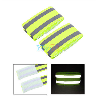 Sport Cycling Safety High Visibility Reflective Double Belt Strap Wrap Arm Band