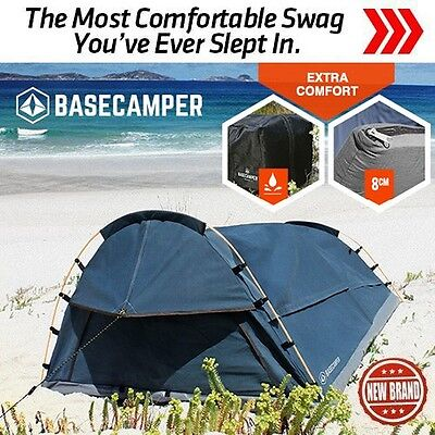 BASECAMPER Double Swag Tent Camping Swags Canvas Tent Deluxe Aluminum Poles