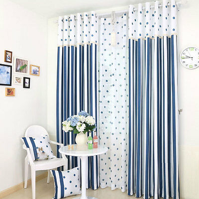 Mediterranean Style Blue Wave Blockout Luxury Curtains Custom Made Sheer Drapes