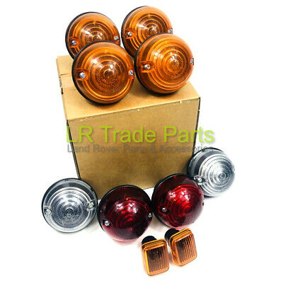 LAND ROVER DEFENDER 300TDi & TD5 NEW FULL INDICATOR SIDE STOP LIGHT LAMP SET KIT