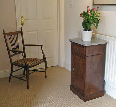 Late Victorian Marble Top Mahogany or Walnut? Pot Cupboard or Bedside Cabinet