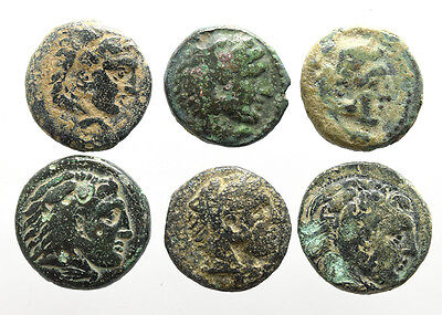 Alexander the Great AE 4 Chalkoi 336-323 BC Lot of 6 coins Perfect Gift