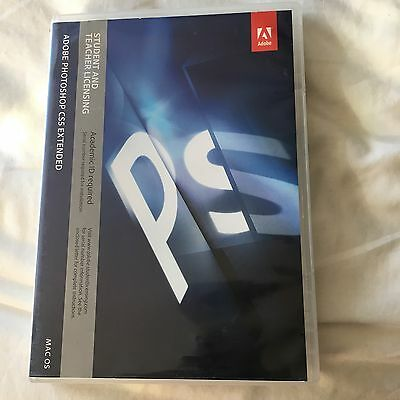 Adobe CS5 Photoshop Extended For Mac - Full Retail License Number Included!