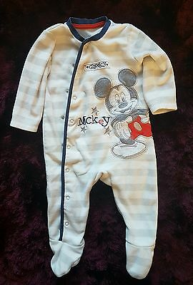 Boys Disney Mickey mouse sleepsuits 6-9 months