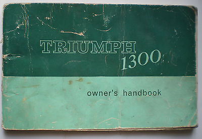 Triumph 1300 Owners Manual