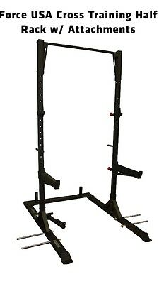BRAND NEW Force USA Half  Rack F-CFH with attachments (Can arrange Delivery)