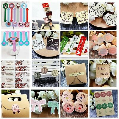 Party Wedding Favours Gift Cake Candy Baking Bag Sticker Seals Labels Decal Tags