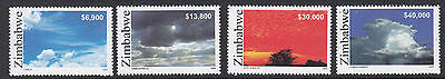 ZIMBABWE :12005 Cloud Formations set SG1156-9 NMH