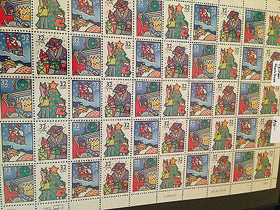 "U S P S Mint Stamp Sheet  "" Christmas Family Scenes  ""  Usps 1995"
