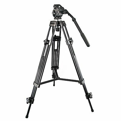 1.5m Professional Heavy Duty DV Video Camera Tripod With Fuild Pan Head Kit