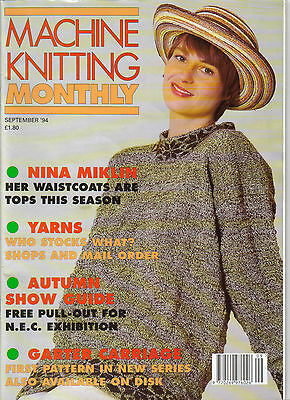MACHINE KNITTING MONTHLY MAGAZINE - Back issue Sept 1994 - Very good condition