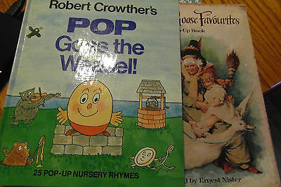 Two Mixed Children's Pop-Up Reading Books.
