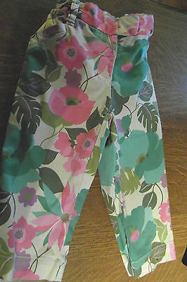 Girls Lovely Flowered Design Trousers From Next Size 4-5 Years