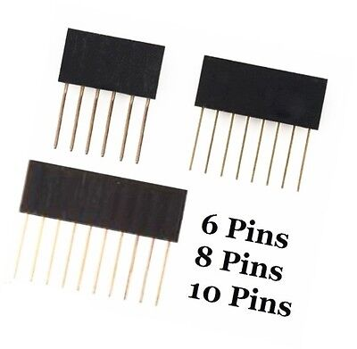 6/8/10 Pins 2.54mm pitch Stackable Header Pins for Arduino Shield NEW U8