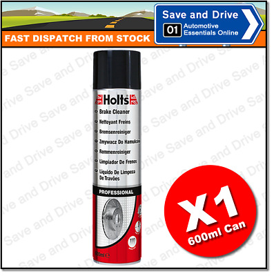 1 x Holts Professional Brake Clutch & Parts Cleaner Degreaser 600ml 100% Solvent