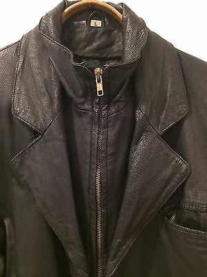 Vintage 80's Men's Wilsons Black  Leather Jacket 40/42
