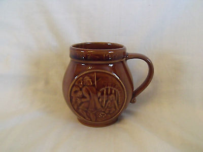 """Holkham Pottery mug """"Norwich New Prison"""" 1887-1987, Special edition no 916"""