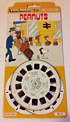 """View-Master 3D Nr.17 Peanuts Charachters 1980 """" Linus Snoopy Charly Brown (L-10)"""
