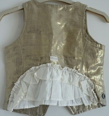 Immaculate Jottum Festive Collection Gold Waistcoat, Stunning! 5-6 yrs (110/116)