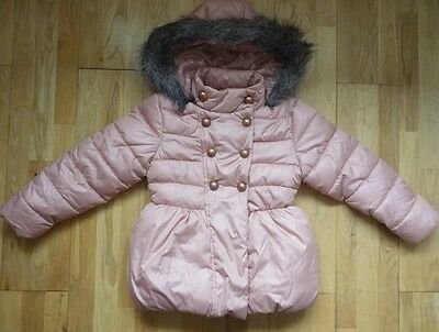 BNWoT NEXT Padded Winter Coat in Beautiful Pale Pink Size 5-6 yrs, Brand New!