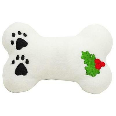 Mirage Pet Products 40-03 BN Dog Toy peluche de Noël avec Siffleur houx os