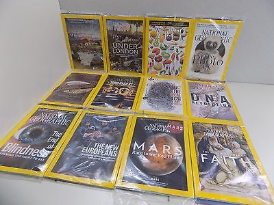 National Geographic Magazine Collection 12 Issues Complete Year Dec-Jan 2016