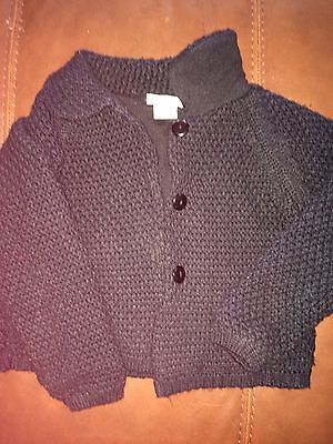 Used Sarah Louise Black Lined Cardigan/jacket Age 3