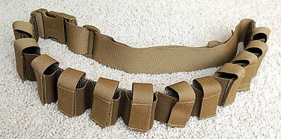 NEW Military 40mm GMR Tactical Tailor Pouch Belt Sling Bandoleer 12 Round-Brown