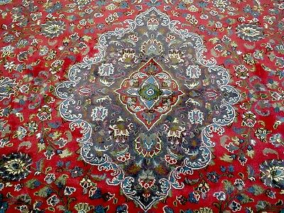 10X13 1960's EXQUISITE HAND KNOTTED RARE COLORS PLUSH WOOL MASHAD PERSIAN RUG