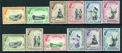SWAZILAND-1956 Set to £1 Sg 53-64  UNMOUNTED MINT V13228
