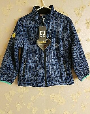 Color kids unisex children soft shell jacket water proof  size:6 years BNWT