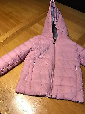 Girls M&S Pink Coat 2-3 Years