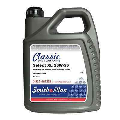 Classic SAE 20w-50 Mineral Engine Oil Vintage Motor Oil 5 Litres 5L