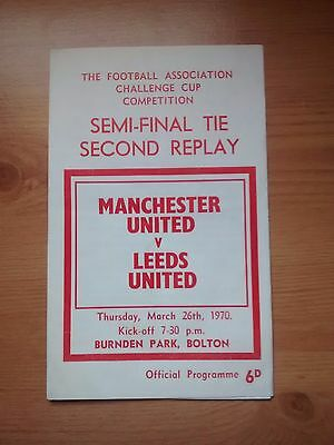 1969/70 FA Cup Semi Final 2nd Replay. Manchester United v Leeds United