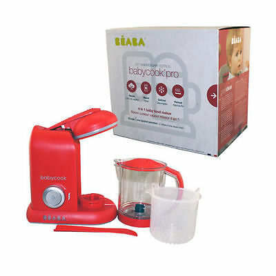 Beaba 912369 Babycook Pro Baby Food Maker Red Baby Food Preparation System 2015
