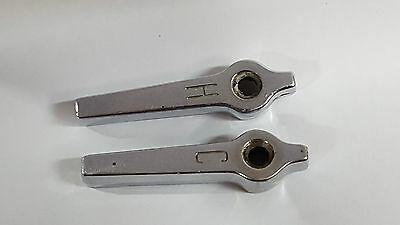 Vintage Faucet Handles Pair H C Chrome Bathroom Sink Hardware Tap