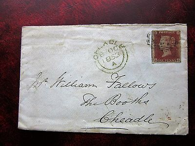 Great Britain Stamps 1853 1d red on piece
