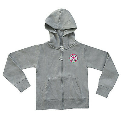 Converse Chuck Taylor Girls Zip Up Jacket With Hood - Grey - Bnwts