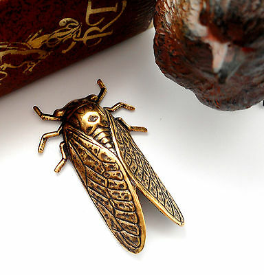 ANTIQUE BRASS Insect Beetle CICADA Stamping - Finding  (FA-6045) `