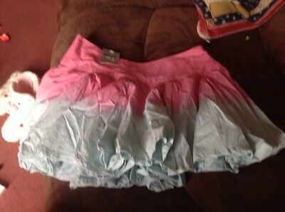 Tammy Girl Girls Mini Skirt Age 12 Pink Aqua New With Tag. Unwanted