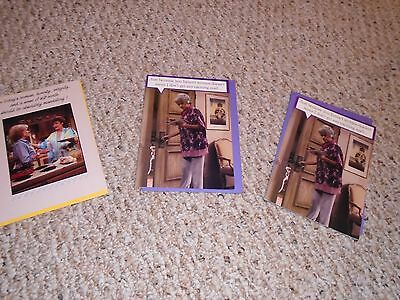 Vintage Greeting cards The Golden Girls Tv Show lot 3 Gibson Greetings 1988