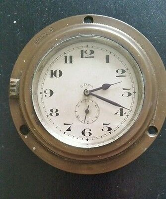 8 day swiss made vintage 1920's car clock
