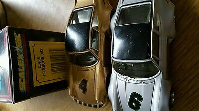 scalextric cars porches x 2